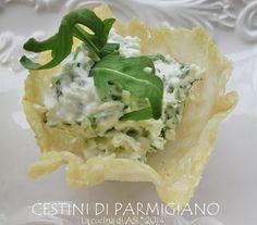 Cestini rucola parmigiano FATTI La cucina di ASI 2014