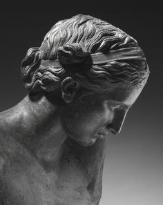 Apollo the Python-Slayer. Date: ca. 350 B.C. Artist: Attributed to Praxiteles (Greek, ca. 400 B.C. - ca. 330 B.C.) Medium: Bronze, copper and stone inlay. (detai) - The Ancient Way of Life