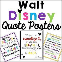 Inspirational Quote Posters Walt Disney
