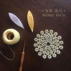 ' Mimosa ' It's easy...too much? #tatting #maimaikaito #originaldesign…