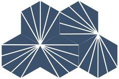 Carreaux ciment hexagonaux Hex4