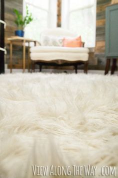 Diy Faux Fur Rug Tutorial Washable Great For When You Have Dogs
