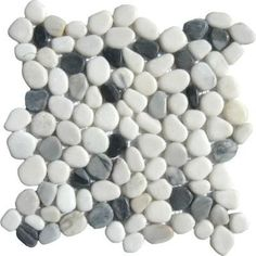 "$10.95 a square foot.  River rock.  Very smooth, great for a shower floor particularly designed to go with our Carrara Bianco 3x6"", 6x12"" or other subway Tiles.  The grout creates the traction and the stone massage the feet.  Wonderful!"
