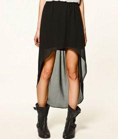 falda asimetrica negra