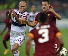 Robben - Totti AS Roma  - FC Bayern Munchen 1- 7 Stadio Olimpico 5 0ct 2014