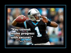 Football Motivation Cam Newton Photo Quote Poster Carolina Panthers QB Wall Art - U Cannot Make Progress With Excuses-Free Ship USD) by ArleyArt Football Motivation, Student Motivation, Cam Newton Panthers, Newton Quotes, Importance Of Leadership, Super Bowl Quotes, Funny Quotes, Life Quotes, Qoutes