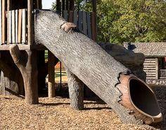 Natural Landscapes Playground   Log Slide - Theme Playground Slides, Nature-Inspired Sensory Play ...