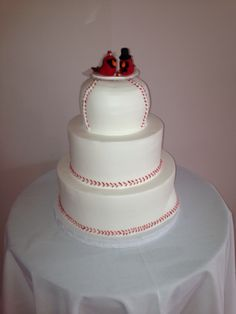 st louis cardinals wedding cake