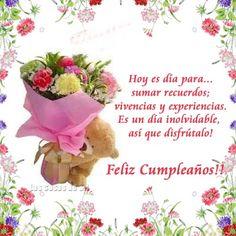 64 trendy ideas for birthday frases amiga Happy Birthday Wishes Spanish, Happy Birthday Wishes Cards, Bday Cards, Happy Birthday Quotes, Happy Birthday Images, Birthday Greeting Cards, Birthday Greetings, Japanese Birthday, Good Day Quotes
