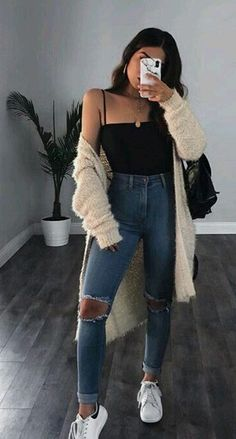 [Women's fashion]Cute Summer Outfits for teens boho Cute Casual Outfits, Basic Outfits, Mode Outfits, Outfits For Teens, Stylish Outfits, Rue 21 Outfits, Black Outfits, Fashion Mode, Winter Fashion Outfits
