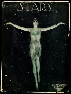 """James Lamont """"Haven"""" Gillespie - Sheet music cover for Stars (with music by James Allden) 1921  via"""