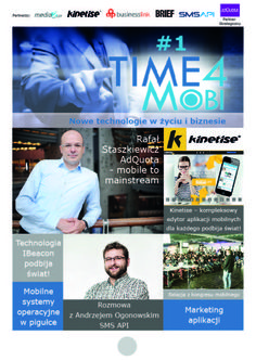 My next publication Time4Mobi: http://www.slideshare.net/DAdamczyx/time4-mobi1