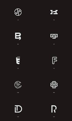 Linked Letters - different letter combinations for brands interpreted by Schapko Ilya as clever graphics.