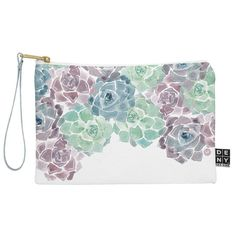 Sweet Succulents Zip Pouch by Wonder Forest