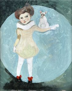gabi swiatkowska :  tibi with cat JPG