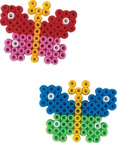 Little Hama bead butterflies, a good one for small children to start with