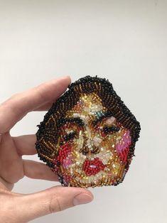 Brooch Klimt JUDITH | Etsy
