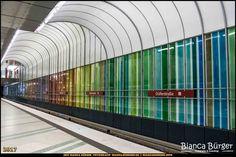 "U-Bahn-Station ""Dülferstraße"" - München-Spezial #München #Munich #Bayern #Bavaria #Deutschland #Germany #subway #underground #station #igersgermany #IG_Deutschland #underground_enthusiasts #biancabuergerphotography #metro #shootcamp #pickmotion #architecture #Architektur U Bahn Station, S Bahn, Public Transport, Mall, Transportation, Instagram Posts, Photography, Bayern, Architecture"