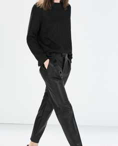 ZARA - NEW THIS WEEK - FAUX LEATHER TROUSERS