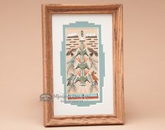 """Native American Navajo Sand Painting 6""""""""x9"""""""" (sp24)"""