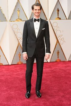 """Andrew Garfield, nominee for best performance by an actor in a leading role for """"Hacksaw Ridge,"""" wearing Tom Ford."""
