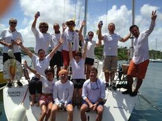 The crew of EH01 Antigua Sailing Week 2012 www.globalyachtracing,com