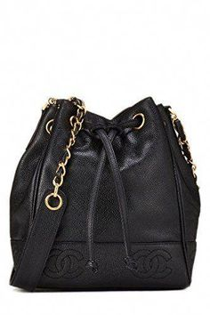 12dd8592df2 What Goes Around Comes Around Black Caviar Triple  cc  Bucket Bag Small -  Chanel