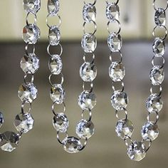 Crystal Clear Acrylic Bead Garland Chandelier Hanging wedding Decoration 33 FT *** Check this awesome product by going to the link at the image.