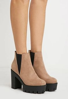 Faux Suede Chelsea Booties   Forever 21   #stepitup