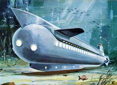 Klaus Bürgle. Retro-futurism.