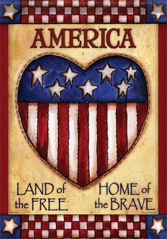 American Patriotic Holidays | America Home of the Brave Patriotic Double Sided Decorative Flag