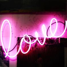 Love word in hot pink lights. Love in cursive. Love In Cursive, Cursive Words, All You Need Is Love, Make You Feel, How To Make, Gala Darling, Love Words, Words Quotes, Self Love