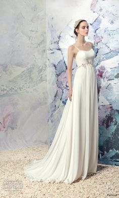 PAPILIO 2016 bridal spagetti strap semi sweetheart neckline grecian empire wedding dress sweep train (1606l amur) mv  #bridal #wedding #weddingdress #weddinggown #bridalgown #dreamgown #dreamdress #engaged #inspiration #bridalinspiration #weddinginspiration #weddingdresses
