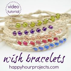 How to Make Wish Bracelets – Video Tutorial