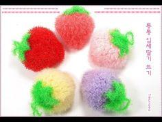 Scrubby Yarn, Crochet Scrubbies, Crochet Strawberry, Diy Crochet, Diy And Crafts, Projects To Try, Crochet Patterns, Knitting, Amigurumi