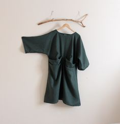 Excited to share the latest addition to my #etsy shop: handmade to measure 2 folds kimono sleeve eco linen dress