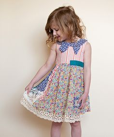 Love this Pink & Blue Patchwork Dress - Toddler & Girls by Poco & Picotine on Toddler Girl Dresses, Girls Dresses, Toddler Girls, Toddler Fashion, Boy Fashion, Well Dressed Kids, Patchwork Dress, Dress Collection, Cute Kids