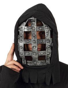 Masker met tralies voor volwassenen : Deze Halloween accessoire bevat een masker voor volwassenen. (Kleding niet inbegrepen).Het zwarte masker is gemakkelijk zoals een kap aan te trekken. Een elastiek aan de achterkant zorgt voor...