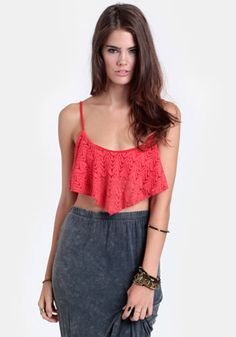 Summer Heat Crocheted Crop Top #fashion