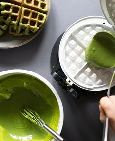 How to make Matcha (Green Tea) Waffles