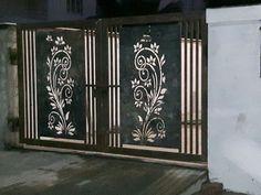 Hi Beam Lasercut Technology, Fertilizer . Gate Wall Design, Grill Gate Design, House Main Gates Design, Steel Gate Design, Front Gate Design, House Front Design, Door Design, Front Gates, Entrance Gates