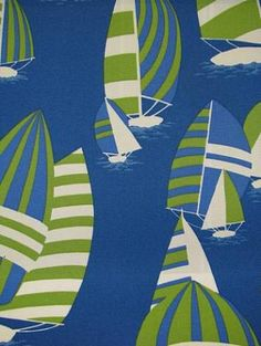 "Regatta Club Maritime.  100% spun acrylic outdoor fabric By Nautica. Perfect for indoor/outdoor upholstery or drapery. Repeat H: 27 V:25. 54"" wide."
