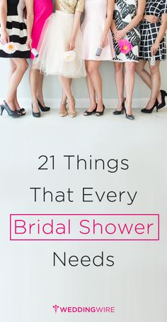 Bridal shower musts!