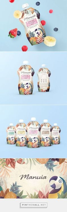 Manuia Superfood Smoothie Packaging by Sealburger | Fivestar Branding Agency – Design and Branding Agency & Curated Inspiration Gallery #packaging #packagingdesign #packages #packagedesign #design #designinspiration