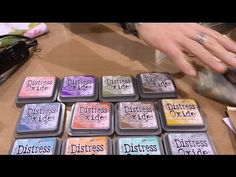 Tim Holtz demos Distress Oxide Inks at Ranger - Creativation - CHA 2017 - YouTube