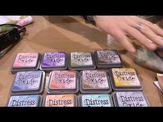 Tim Holtz demos Distress Oxide Inks at Ranger - Creativation - CHA 2017 - YouTube