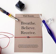 Silver om bracelet Yoga bracelet Yoga wish by GraceOfBrace on Etsy