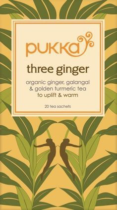 Pukka three Ginger thee 20 x 2 gram  #honingland