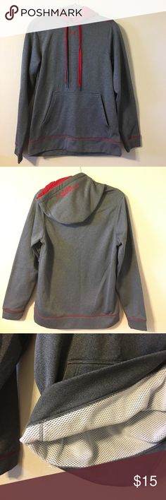 Under Armour Pullover Sweatshirt Men's Small Barely used. Small. Red/Gray Under Armour sweatshirt. Under Armour Jackets & Coats Performance Jackets