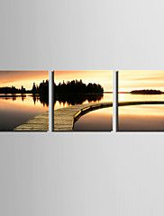 Canvas Set Landscape Classic,Three Panels Square Print Wall Decor For Home Decoration